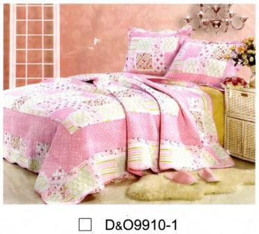 ลายผ้าคลุมเตียงลายพิมพ์ สีชมพู